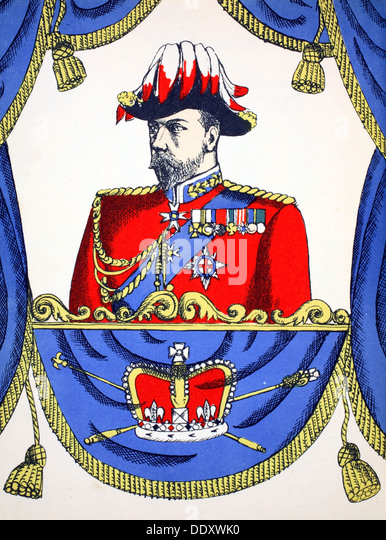 George V, King of the United Kingdom from 1910, (1932). Artist: Rosalind Thornycroft - Stock Image