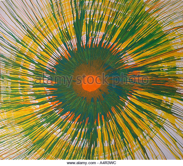 Spin painting - Stock Image