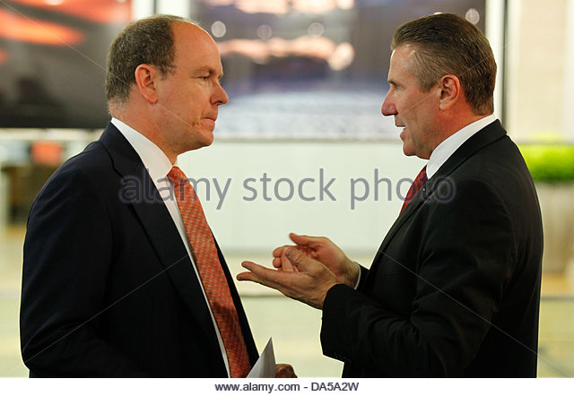 International Olympic Committee Meeting in Lausanne  with H.S.H. Prince Albert II of Monaco and IOC Member Sergej - Stock Image