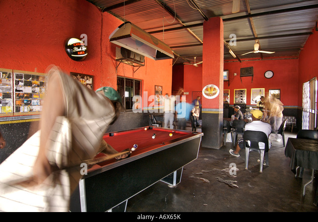 Interior of Big Momma's, a shebeen in the township of Refilwe near Cullinan in South Africa. - Stock-Bilder