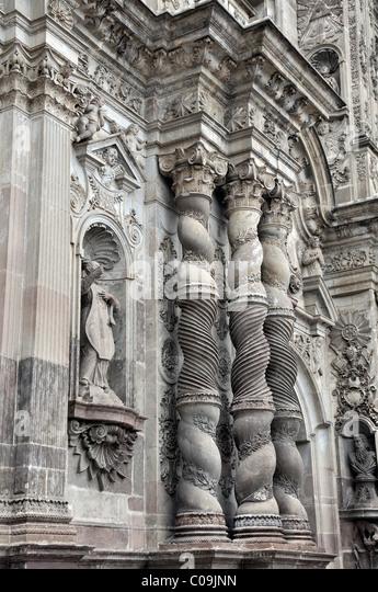 La Compania de Jesus church details Quito Ecuador - Stock Image