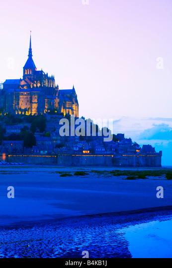 Le Mont St Michel Ille et Vilaine Bretagne France - Stock Image