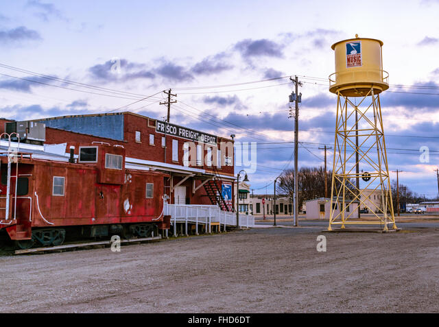 Oklahoma Music Hall of Fame on the site of the former Frisco Freight Depot in Muskogee, Oklahoma - Stock Image