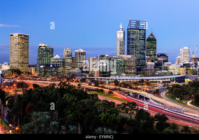 Perth -  The City of Lights. - Stock Image