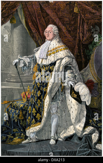 Louis XVI, King of the French at the outset of the French Revolution. - Stock-Bilder