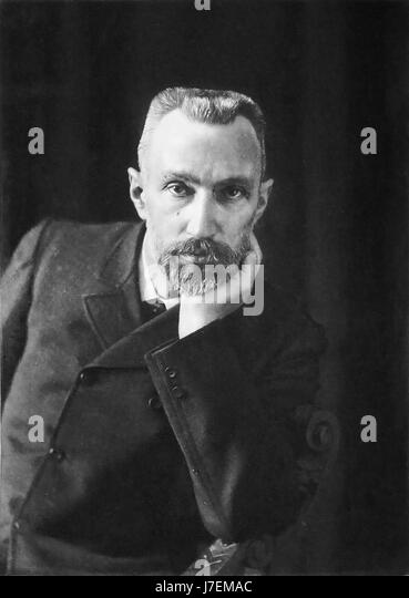 PIERRE CURIE (1859-1906) French physicist in 1906 - Stock-Bilder