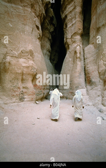 Madina Saleh Saudi Arabia Nabataean City Entrance - Stock Image
