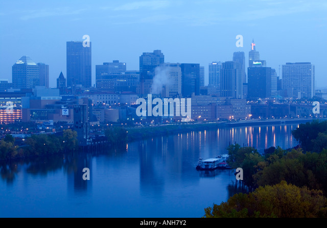 Skyline of St. Paul, Minnesota, USA - Stock Image