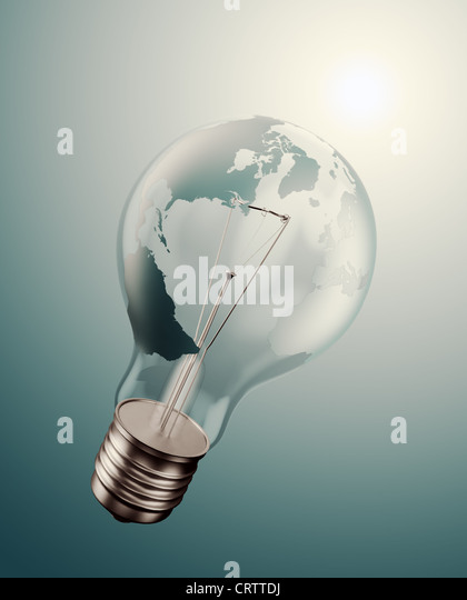 World energy issues concept illustration - Stock Image