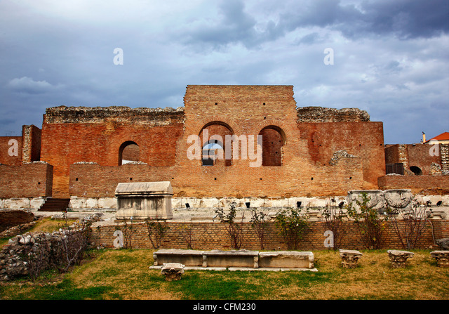 The Roman Odeon of Patra, one of the most important monuments of the 'capital' of Peloponnese, Greece - Stock Image