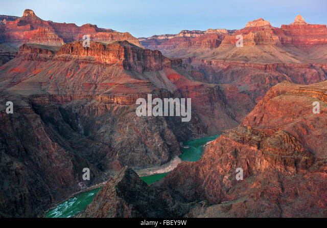 Colorado river from Tonto trail, Grand Canyon USA - Stock Image