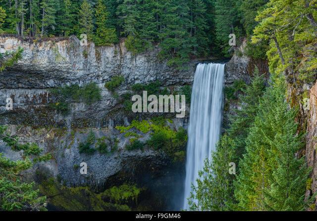 Brandywine Falls, waterfall, Brandywine Falls Provincial Park, British Columbia, Canada - Stock Image