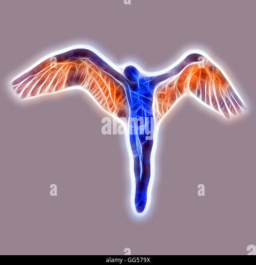 Angel Dressed In A Rainbow - Stock Image