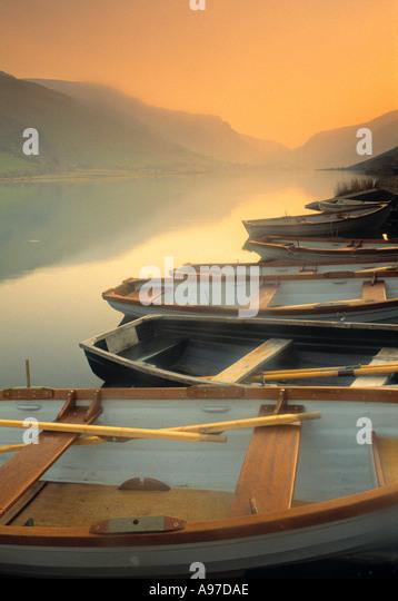 Boats on Lake Wales - Stock Image