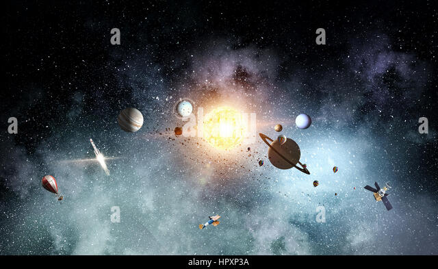 starry sky with planets - photo #16