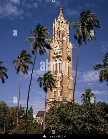 University clocktower, Mumbai, India, Asia - Stock Image
