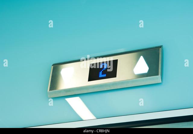 Elevator in modern office block - Stock Image