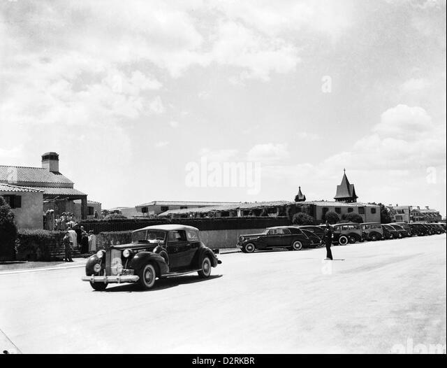 A View of the Southampton Beach Club, Southampton, NY, 1940 - Stock Image