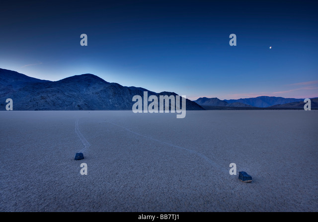 The Racetrack in Death Valley National Park in California USA - Stock-Bilder