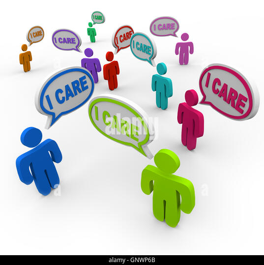 I Care People Friends Support Group Empathy Sympathy - Stock Image