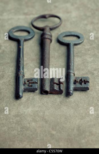Three old keys - Stock Image