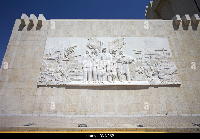 Syria Damascus Panorama military museum wall tableau  commemorating the Yom Kippur or October war and the six days - Stock Image
