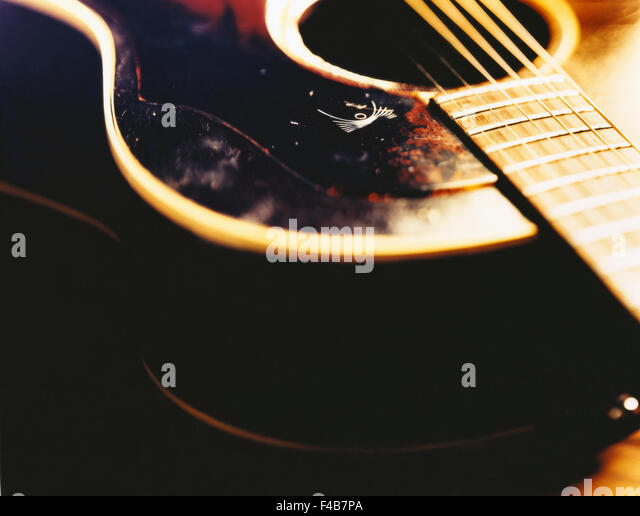 catalogue 2 close-up color image cultural life culture detail guitar horizontal music musical instrument Swedish - Stock-Bilder