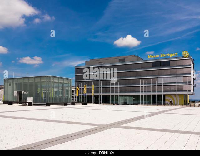 Stuttgart Messe exhibition centre and trade fair show, Stuttgart, Germany, Europe - Stock Image