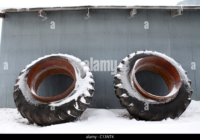 Large Tractor Wheels : Tin shed stock photos images alamy