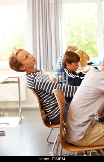 Fidget in the lessons - Stock Image