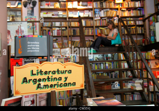 Argentina Buenos Aires Avenida Adolfo Alsina La Libreria de Avila del Colegio historic bookstore bookseller books - Stock Image