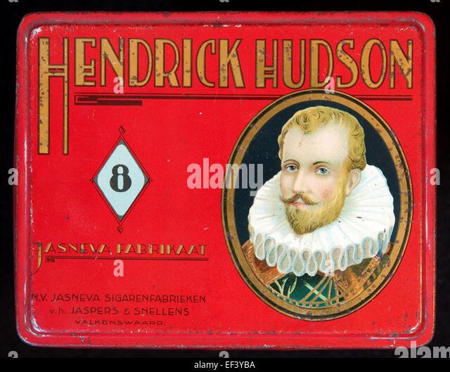 Hendricks Hudson sigarenblikje - Stock Image