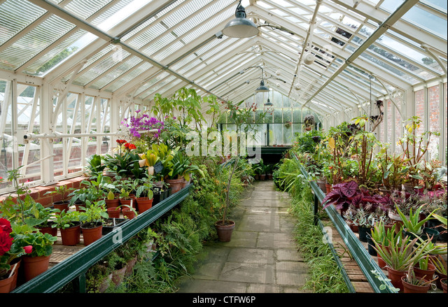 Victorian style greenhouse stock photos victorian style for Greenhouse styles