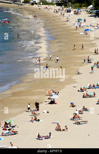San Juan Puerto Rico Overview of Isla Verde Beach - Stock Image