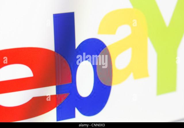 Ebay logo on a monitor screen - Stock Image