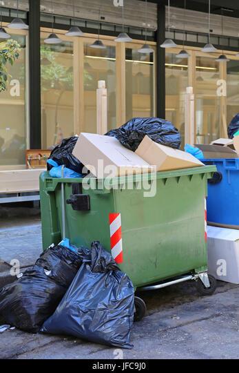 Garbage Overflow - Stock Image