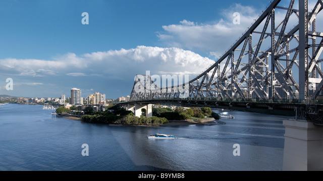 The Story Bridge Brisbane Australia - Stock Image