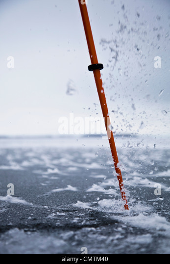 Close-up ice pick - Stock Image