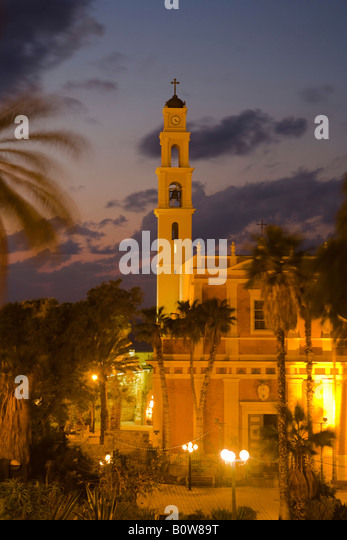 St Peter's Church, Jaffa, Tel Aviv, Israel, Middle East - Stock Image