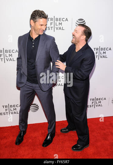 New York, NY, USA. 22nd Apr, 2016. 22 April 2016 - New York, New York- Eric Bana, Ricky Gervais. ''Special - Stock Image
