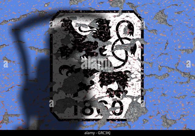 Eroding Logos Of Soccer Club 1860 Muenchen - Stock-Bilder