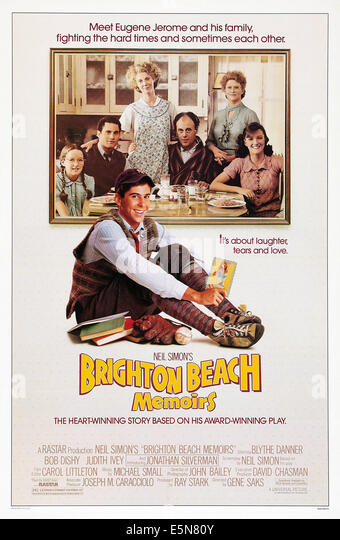 BRIGHTON BEACH MEMOIRS, Jonathan Silverman (front), rear from left: Stacey Glick, Brian Drillinger, Blythe Danner, - Stock Image
