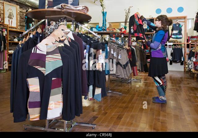 Canada Quebec Province Montreal Plateau Mont Royal District Boulevard Saint Laurent Myco Anna Fashion Shop for woman - Stock Image