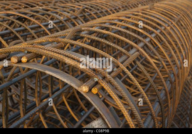 wire mesh, reinforcement for cement concrete - Stock Image