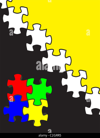 backgrounds of puzzle. - Stock-Bilder