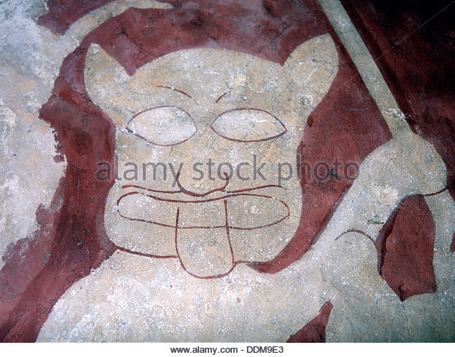 Demon painting stock photos demon painting stock images for Chaldon church mural