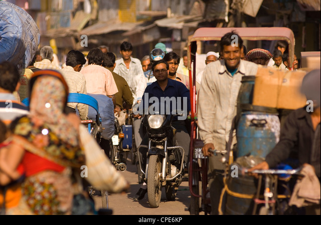Street scene, Agra, Uttar Pradesh, India, Asia - Stock-Bilder