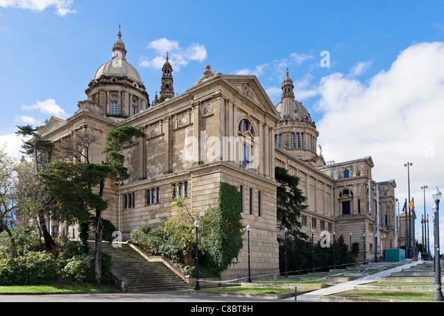 The Palau Nacional, Montjuic, Barcelona, Catalunya, Spain - Stock Image