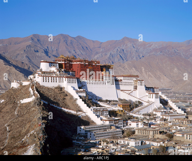 The Potala Palace, former residence of the Dalai Lama in Lhasa, Tibet, Asia - Stock Image