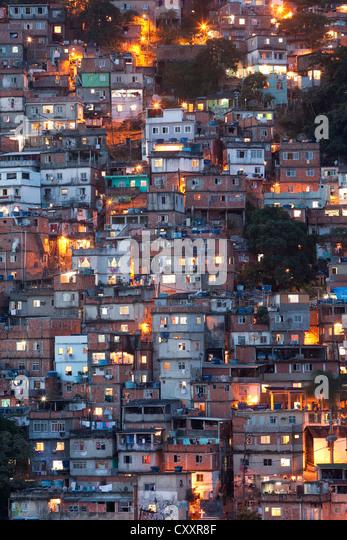 Favela in Rio de Janeiro - Stock Image